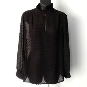 J. CREW Dotted Swiss Blouse